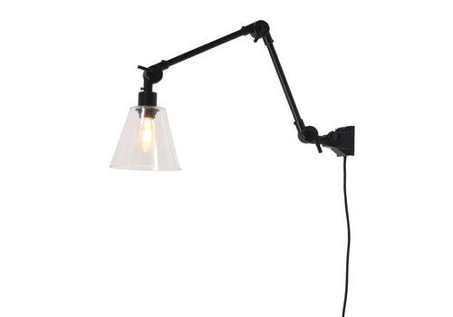 Plafond/wandlamp Amsterdam glas M