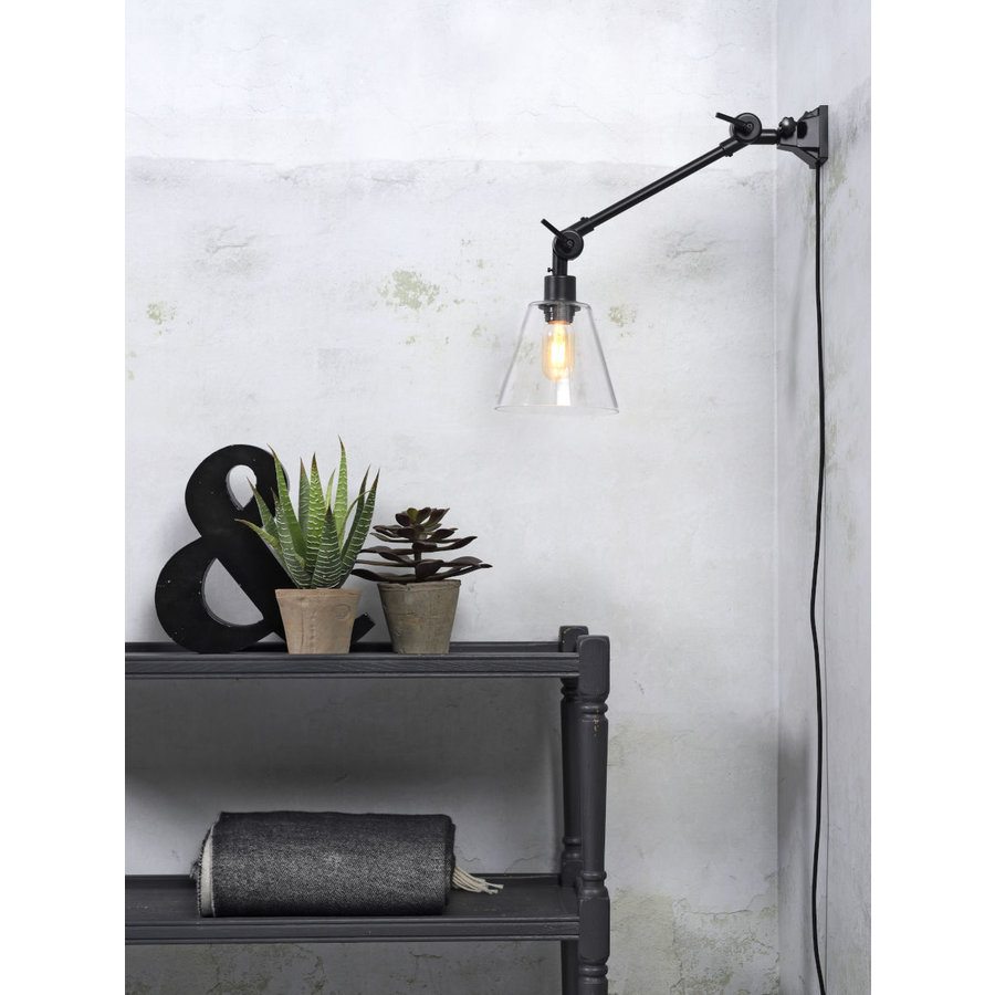 Wandlamp / Plafondlamp Amsterdam glas maat S-4