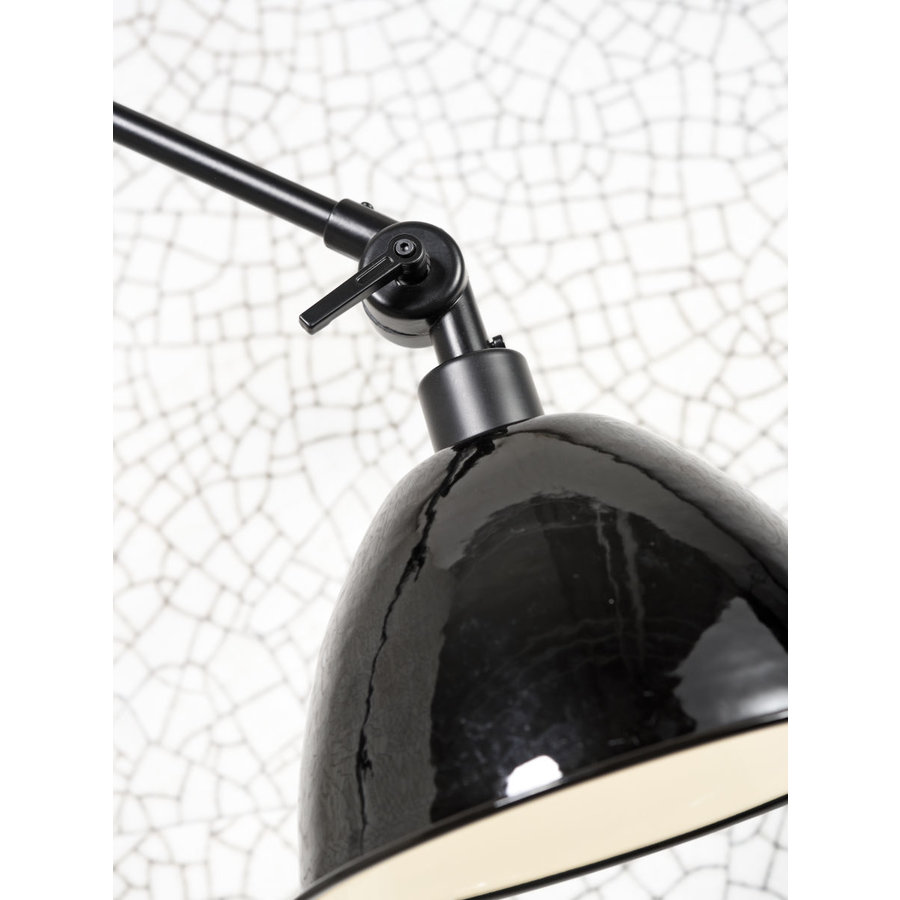 Wandlamp / Plafondlamp Amsterdam metaal zwart (maat S)-5