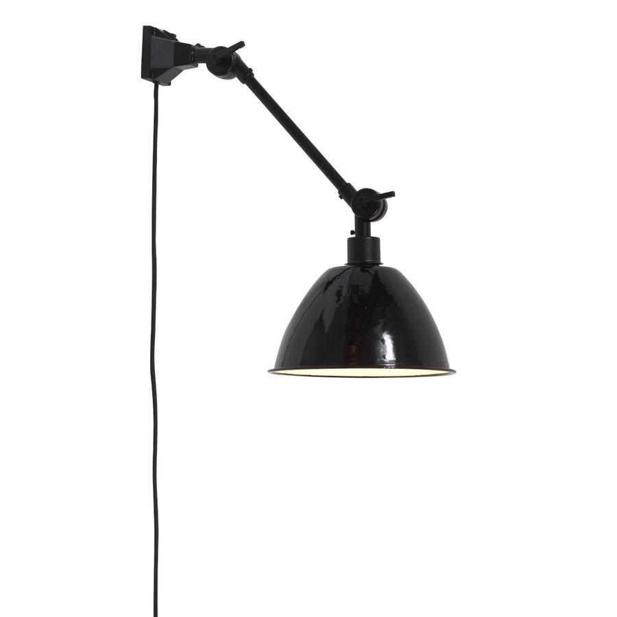 Wandlamp / Plafondlamp Amsterdam metaal zwart (maat S)-1
