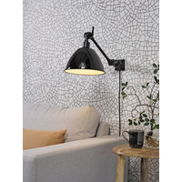 thumb-Wandlamp / Plafondlamp Amsterdam metaal zwart (maat S)-4