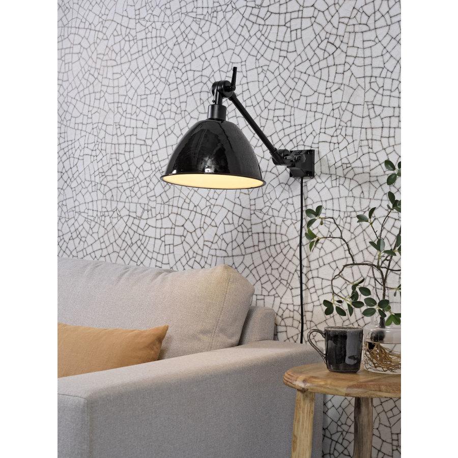 Wandlamp / Plafondlamp Amsterdam metaal zwart (maat S)-4