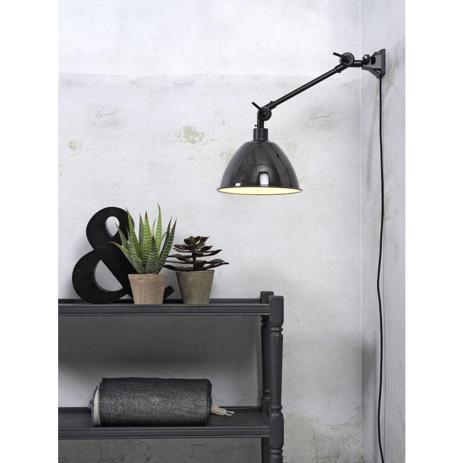 Wandlamp / Plafondlamp Amsterdam metaal zwart (maat S)-3