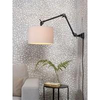 thumb-Plafond/wandlamp Amsterdam M met lampenkap textiel L-4