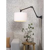 thumb-Plafond/wandlamp Amsterdam M met lampenkap textiel L-3
