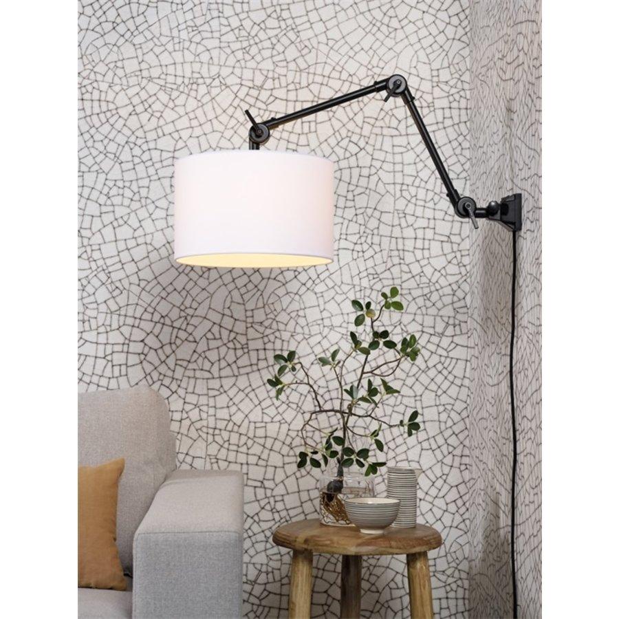 Plafond/wandlamp Amsterdam M met lampenkap textiel L-3