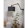 It's about RoMi Plafond/wandlamp Amsterdam M met lampenkap textiel L