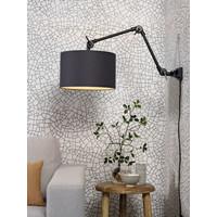 thumb-Plafond/wandlamp Amsterdam M met lampenkap textiel L-1
