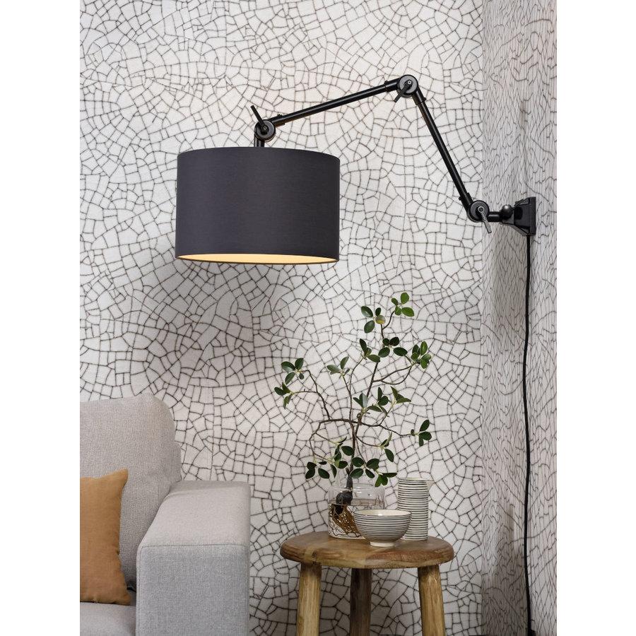 Plafond/wandlamp Amsterdam M met lampenkap textiel L-1