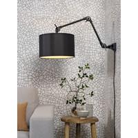 thumb-Plafond/wandlamp Amsterdam M met lampenkap textiel L-5