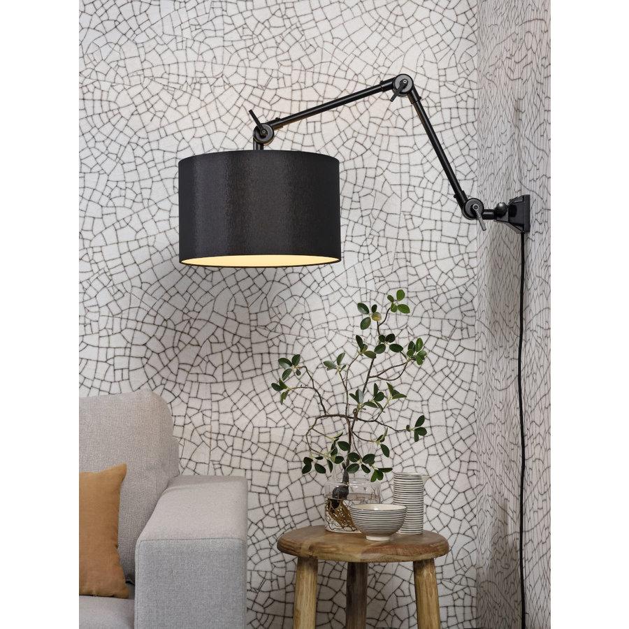 Plafond/wandlamp Amsterdam M met lampenkap textiel L-5