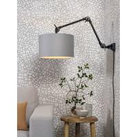 thumb-Plafond/wandlamp Amsterdam M met lampenkap textiel L-6