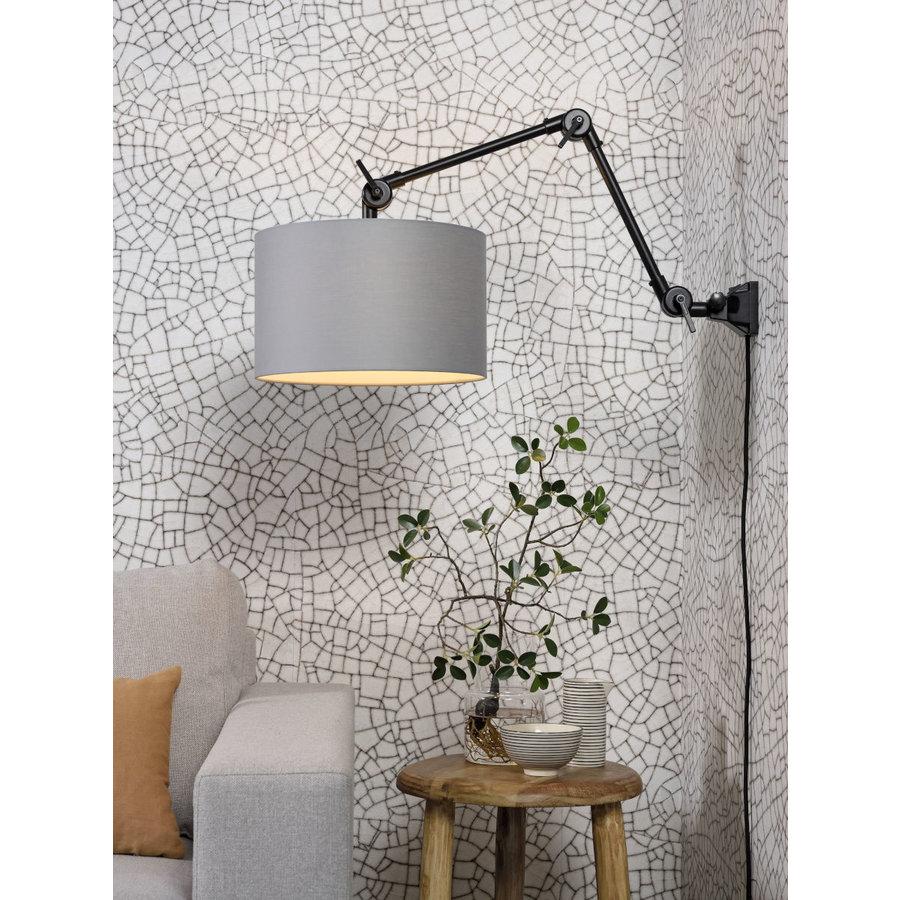 Plafond/wandlamp Amsterdam M met lampenkap textiel L-6