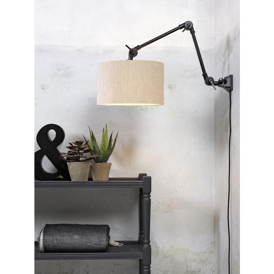 Plafond/wandlamp Amsterdam M met lampenkap textiel L-8