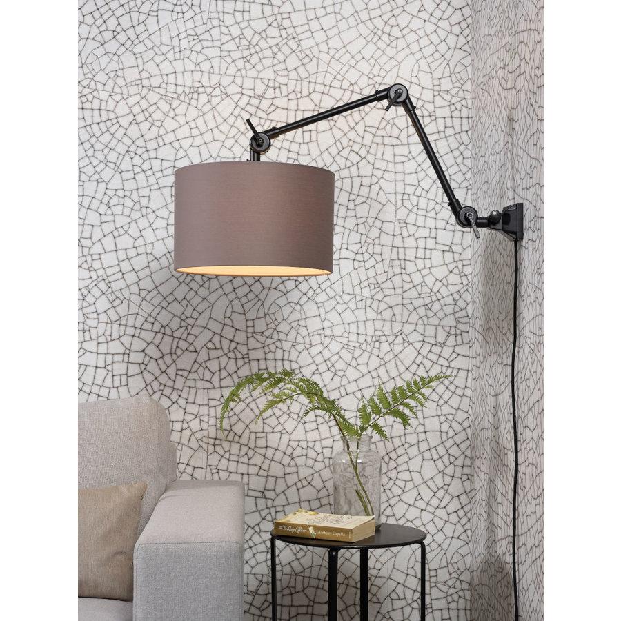 Plafond/wandlamp Amsterdam M met lampenkap textiel L-7