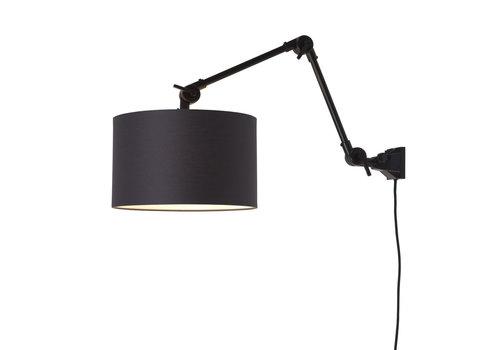 Plafond/wandlamp Amsterdam M textiel L