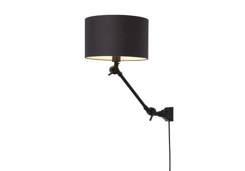 Plafond/wandlamp Amsterdam S textiel L
