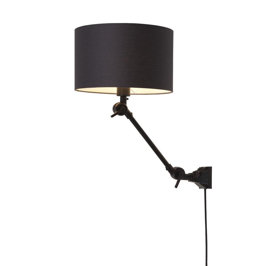 Plafond/wandlamp Amsterdam S met lampenkap textiel L-1