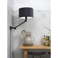 thumb-Plafond/wandlamp Amsterdam S met lampenkap textiel L-5