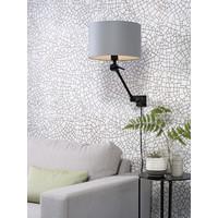 thumb-Plafond/wandlamp Amsterdam S met lampenkap textiel L-6
