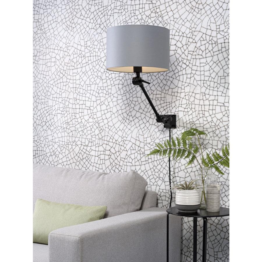 Plafond/wandlamp Amsterdam S met lampenkap textiel L-6
