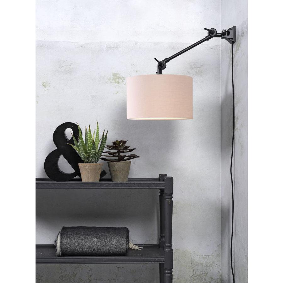 Plafond/wandlamp Amsterdam S met lampenkap textiel L-4