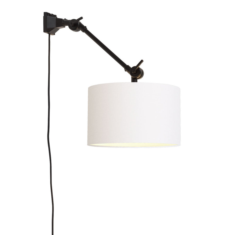 Plafond/wandlamp Amsterdam S met lampenkap textiel L-3