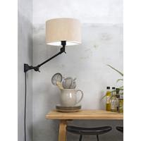 thumb-Plafond/wandlamp Amsterdam S met lampenkap textiel L-9