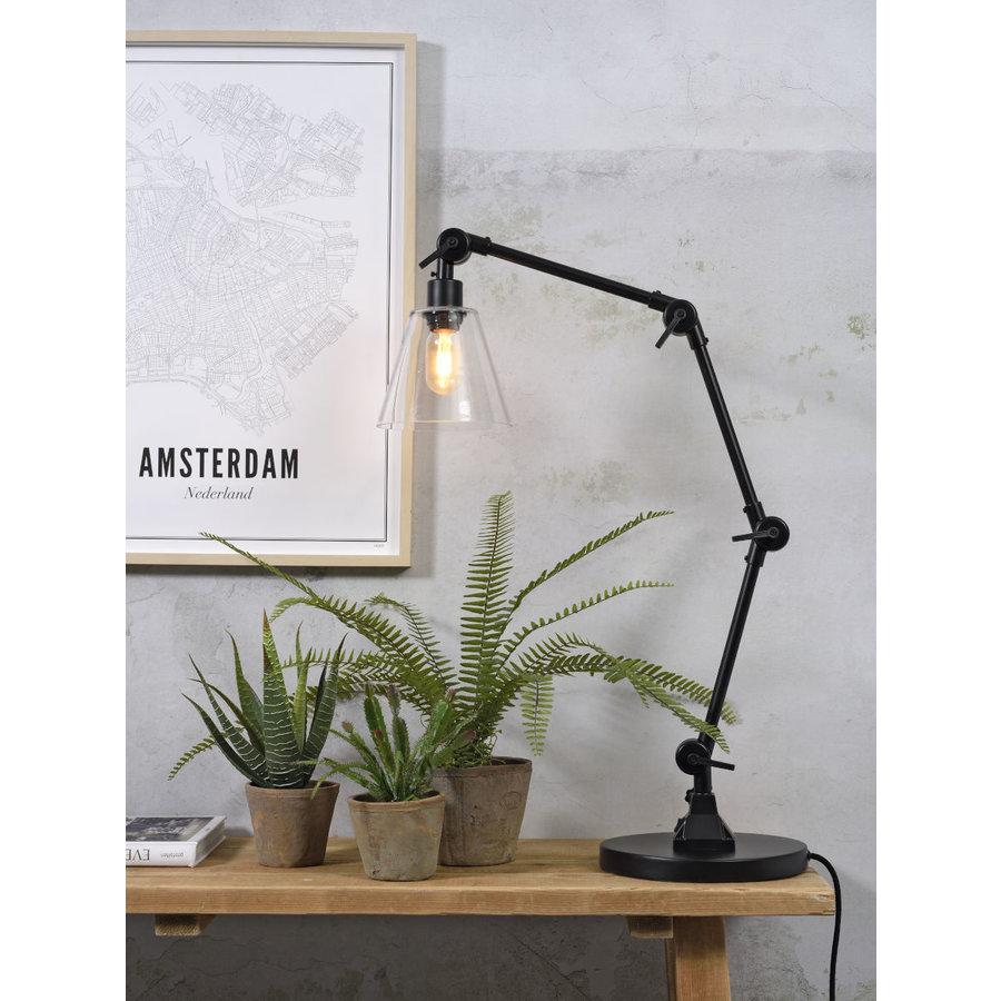 Tafellamp Amsterdam zwart met glas-2