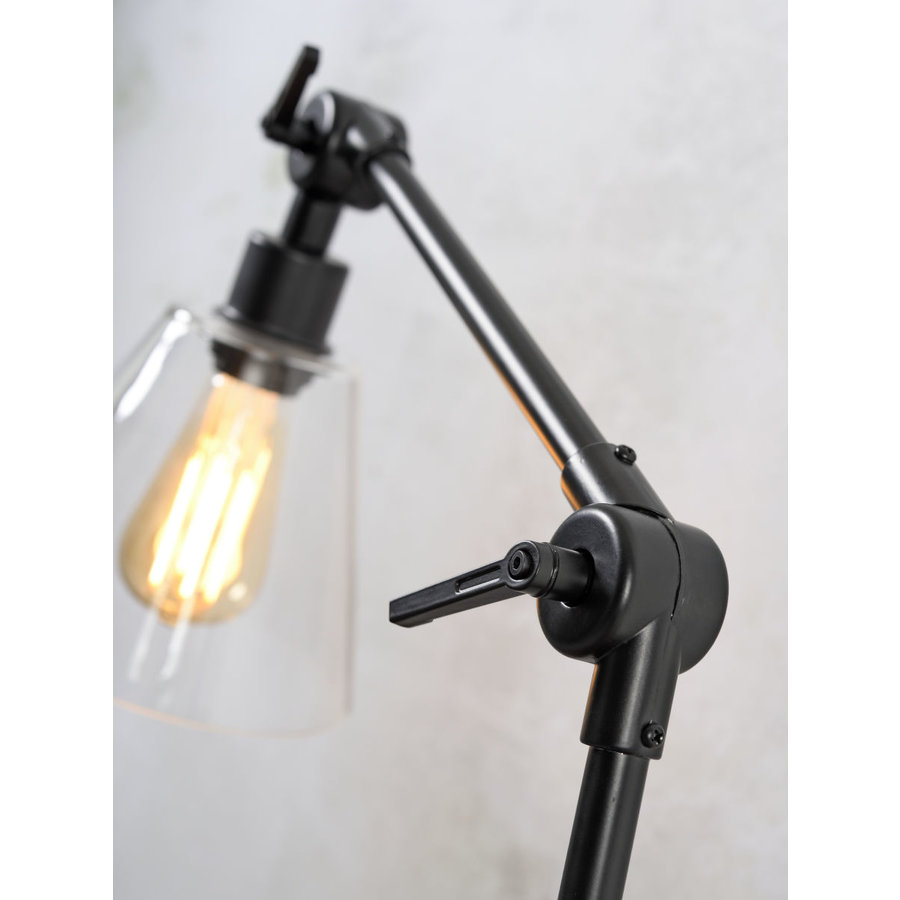 Tafellamp Amsterdam zwart met glas-5