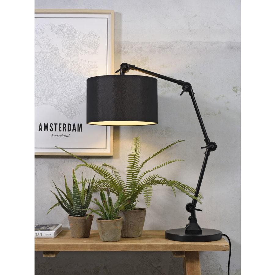 Tafellamp Amsterdam  met lampenkap textiel-1