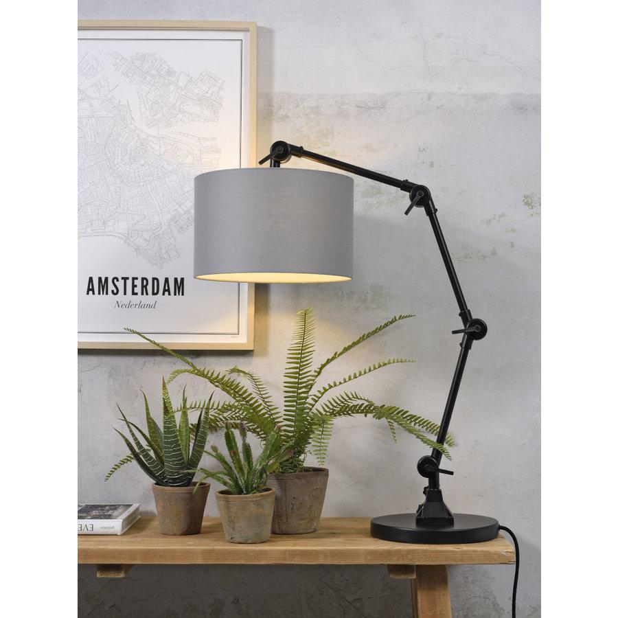 Tafellamp Amsterdam  met lampenkap textiel-6