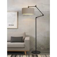thumb-Vloerlamp Amsterdam met lampenkap textiel-8