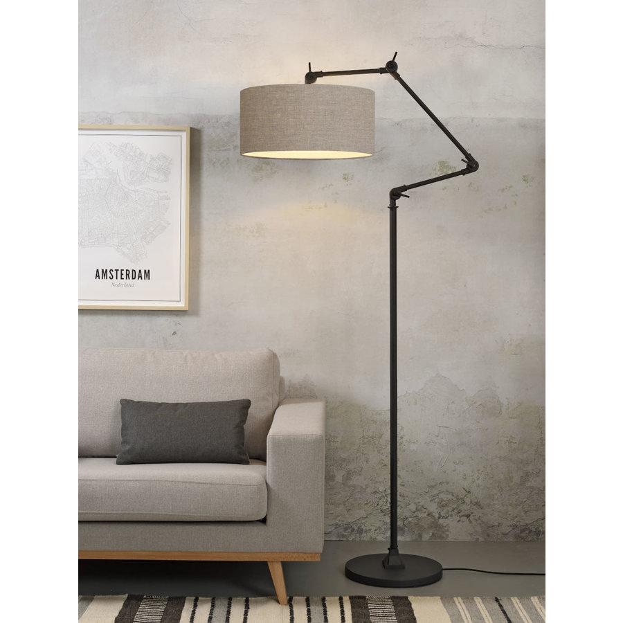 Vloerlamp Amsterdam met lampenkap textiel-8
