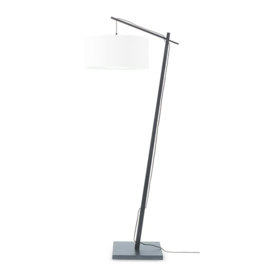 Vloerlamp Andes bamboe zw. h.176cm/kap 47x23cm ecolin. wit-1