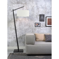 thumb-Vloerlamp Andes bamboe zw. h.176cm/kap 47x23cm ecolin. wit-2