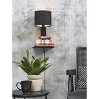 thumb-Wandlamp Andes bamboe zw. plank/kap 18x15cm ecolin. zw. / let op: geen USB-2