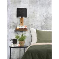 thumb-Wandlamp Andes bamboe nat. plank/kap 18x15cm ecolin. zw.-4
