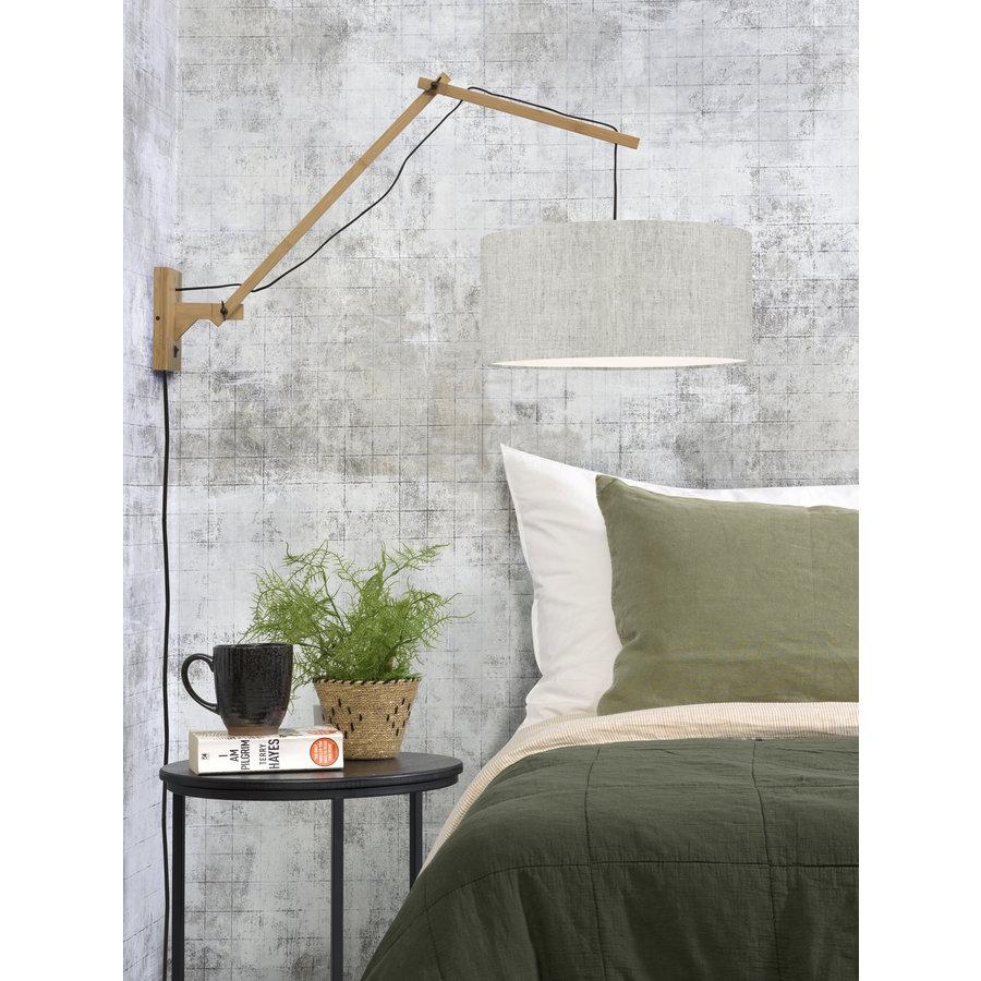 Wandlamp Andes bamboe nat./kap 47x23cm ecolin. licht, L-3