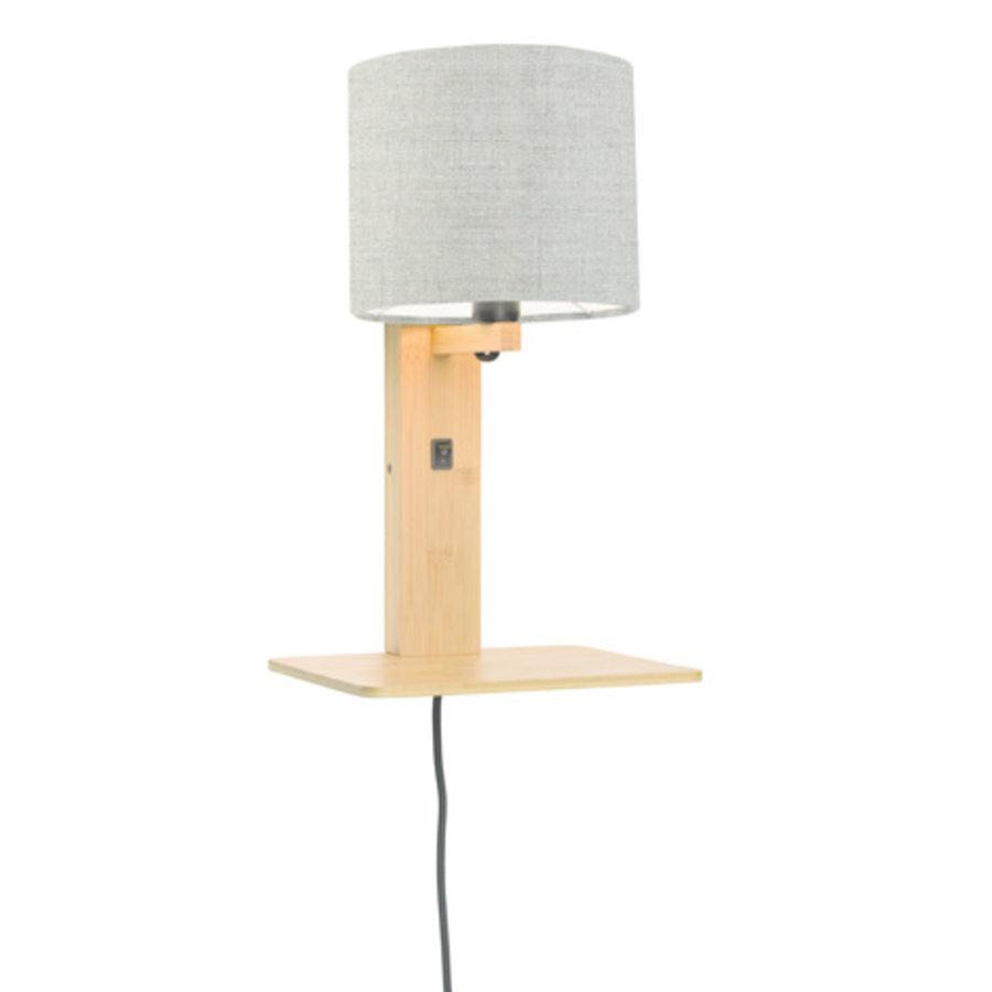 Wandlamp Andes bamboe nat. plank/kap 18x15cm ecolin. donker-1