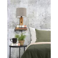 thumb-Wandlamp Andes bamboe nat. plank/kap 18x15cm ecolin. donker-4