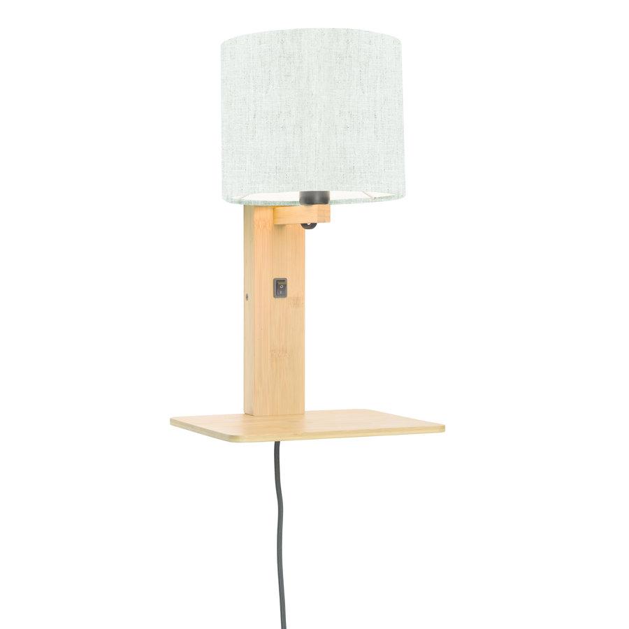 Wandlamp Andes bamboe nat. plank/kap 18x15cm ecolin. licht-1