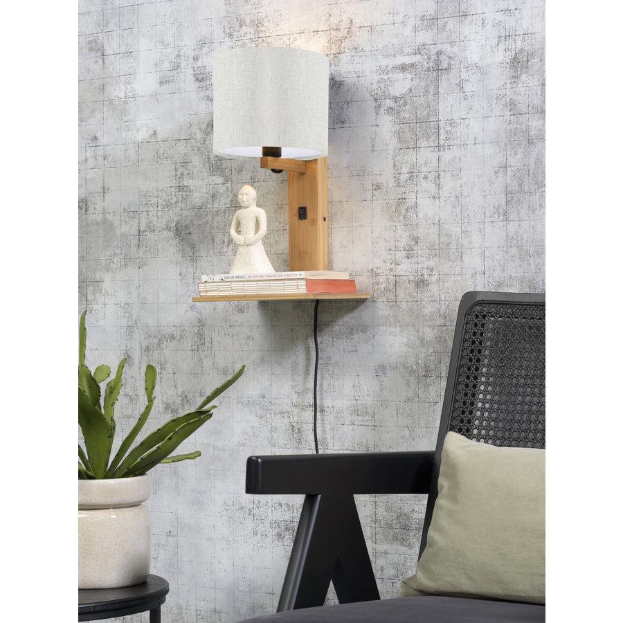 Wandlamp Andes bamboe nat. plank/kap 18x15cm ecolin. licht-3