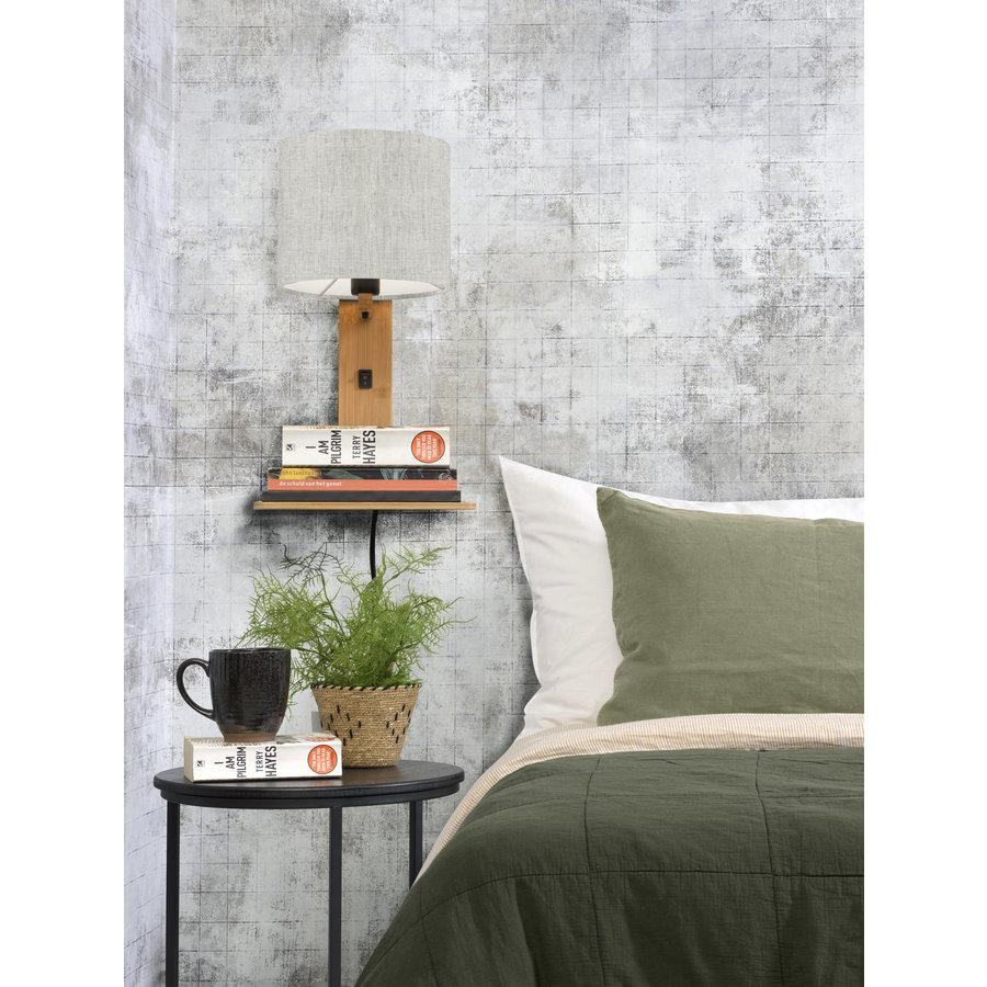 Wandlamp Andes bamboe nat. plank/kap 18x15cm ecolin. licht-4
