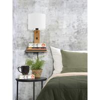 thumb-Wandlamp Andes bamboe nat. plank/kap 18x15cm ecolin. wit-4