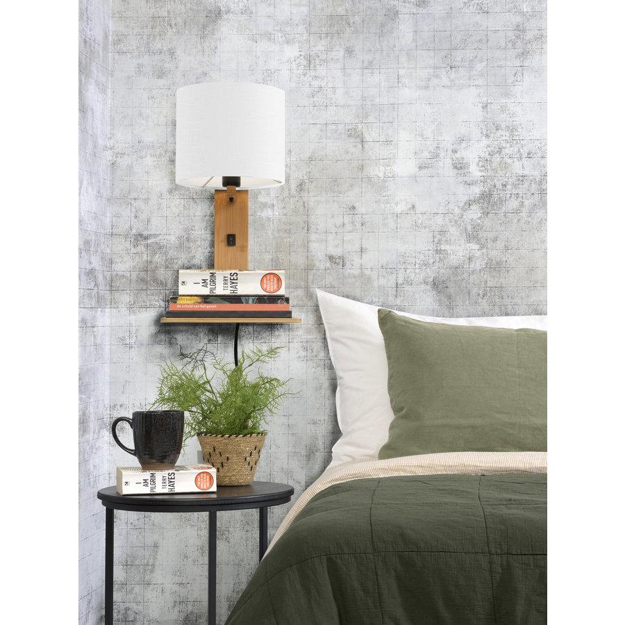 Wandlamp Andes bamboe nat. plank/kap 18x15cm ecolin. wit-4