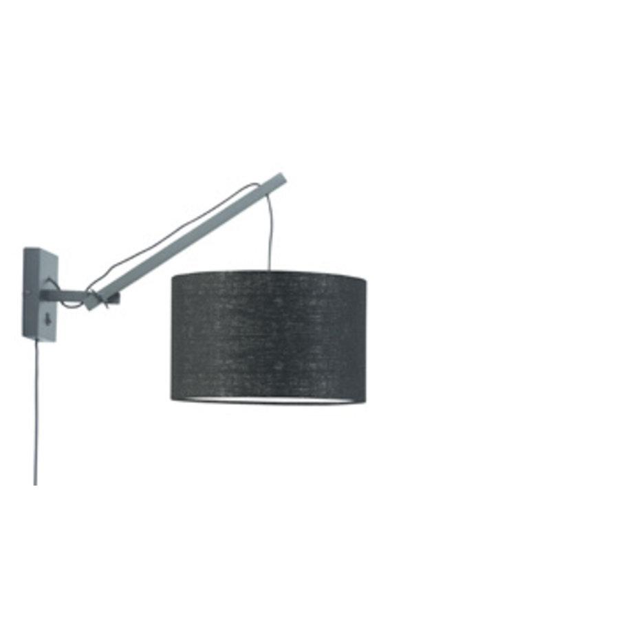 Wandlamp Andes bamboe zwart/kap 32x20cm ecolin. zw.,S-1