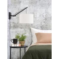 thumb-Wandlamp Andes bamboe zwart/kap 32x20cm ecolin. wit, S-3