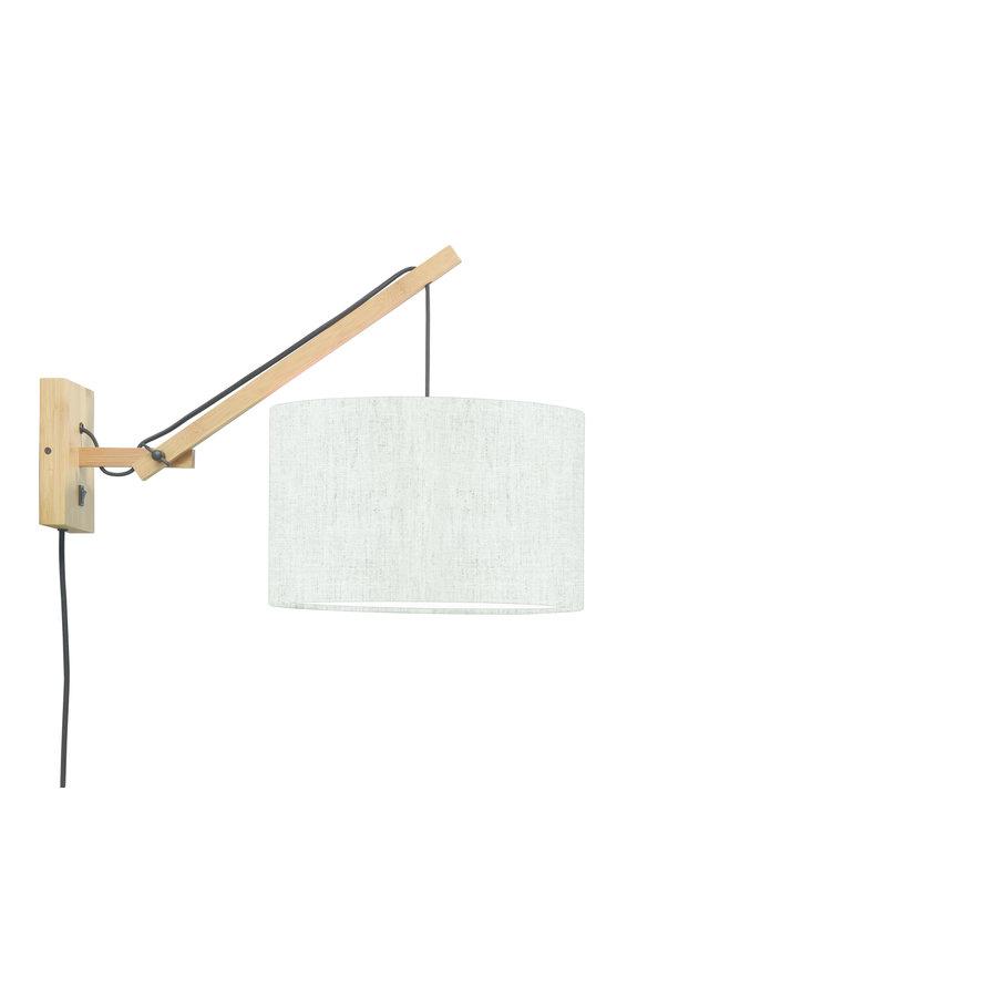 Wandlamp Andes bamboe nat./kap 32x20cm eco linnen licht, S-1