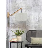 thumb-Wandlamp Andes bamboe nat./kap 32x20cm eco linnen licht, S-2